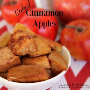 Cinnamon Apple recipe for solar cooking