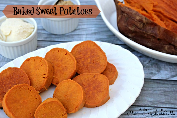 Baked Sweet Potatoes in the Solar Oven