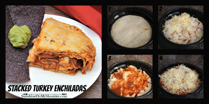 Stacked Turkey Enchiladas