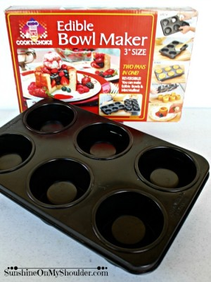 Edible Bowl Maker pan