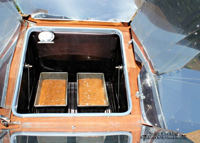 Chocolate Zucchini Bread baked in a solar oven