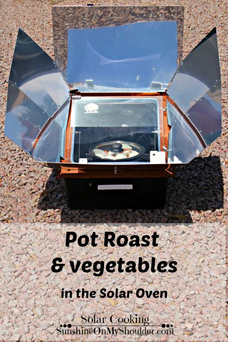 Pot Roast cooked in a solar oven