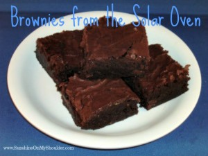 image of brownies from the solar oven