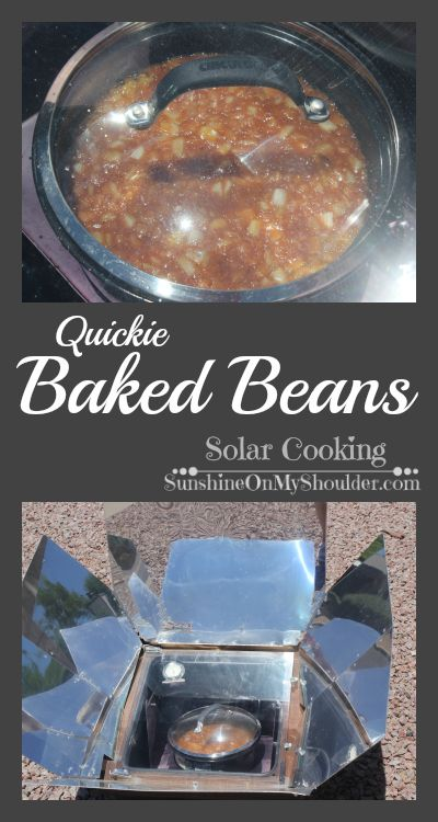 Quickie Baked Beans from the solar oven