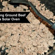Browning Ground Beef in the Solar Oven |Solar Cooking