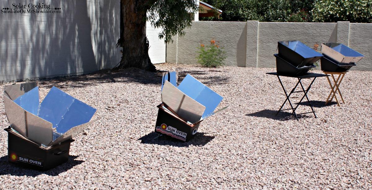 four solar ovens