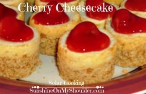Mini_Cherry-Cheesecake_Bites Solar Oven Dessert recipes