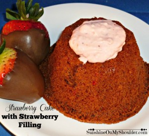 Strawberry Cake with Strawberry Filling solar oven dessert recipes