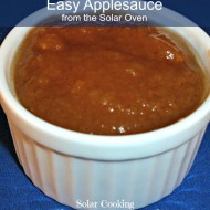 Easy Applesauce from the Solar Oven