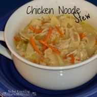 Chicken Noodle Stew in the Solar Oven