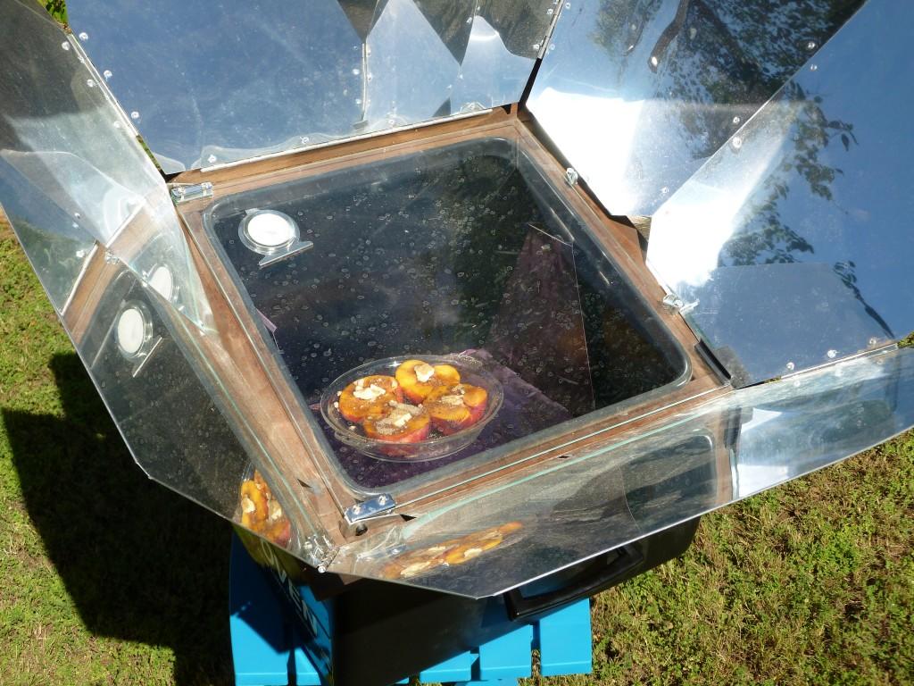 Solar Baked Peaches