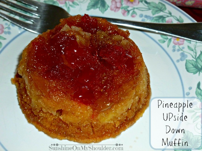 Pineapple Upside Down Cake In Large Muffin Pan