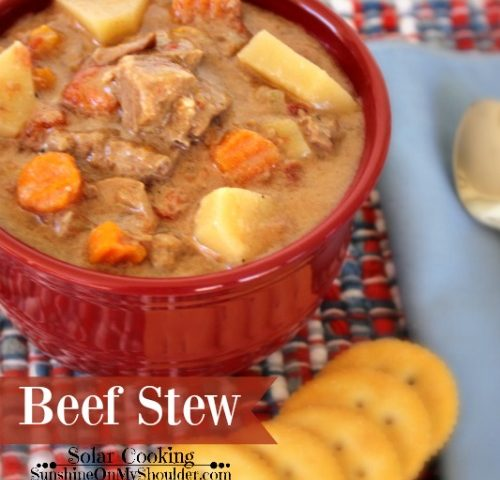 Easy Solar Vegetable Beef Stew Solar Cooking Recipe