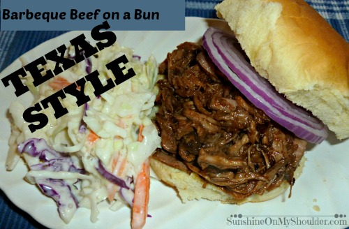 Barbeque beef on a Bun Texas Style