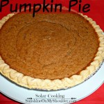 Classic Pumpkin Pie baked in a solar oven