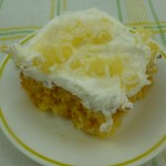 Pineapple Coconut Poke Cake from the Solar Oven