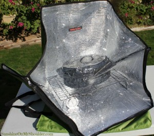 Sun Flair Solar oven solar cooking Cheesy Hash Brown potatoes