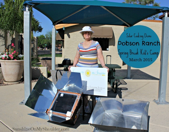 Solar cooking demo at Dobson Ranch Kids Camp