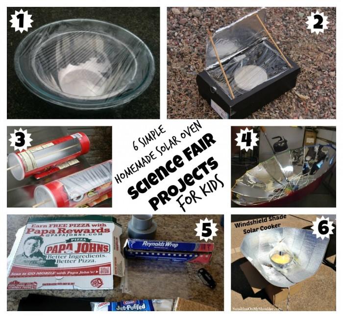 image of 6 homemade solar ovens for kids