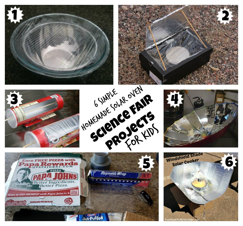 6 homemade solar oven projects for kids for Solar energy projects for kids