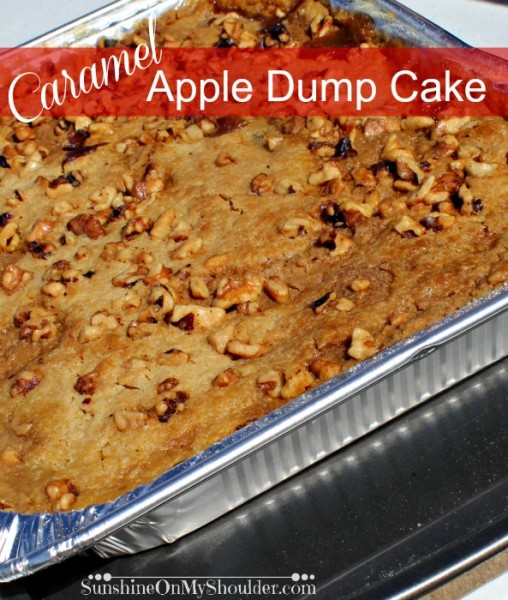 Caramel Apple Dump Cake | Sunshine On My Shoulder