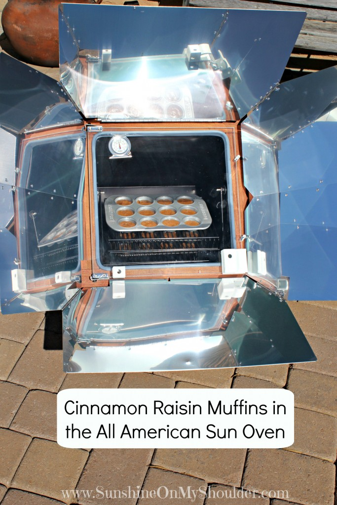 Cinnamon Raisin Muffins in the All American Sun Oven