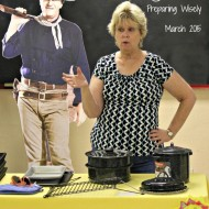 Solar Cooking Demo at Preparing Wisely March 2015