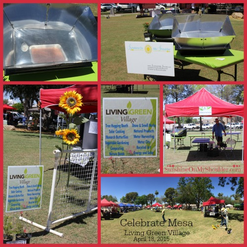 Solar Cooking at the Living Green Village in Mesa AZ