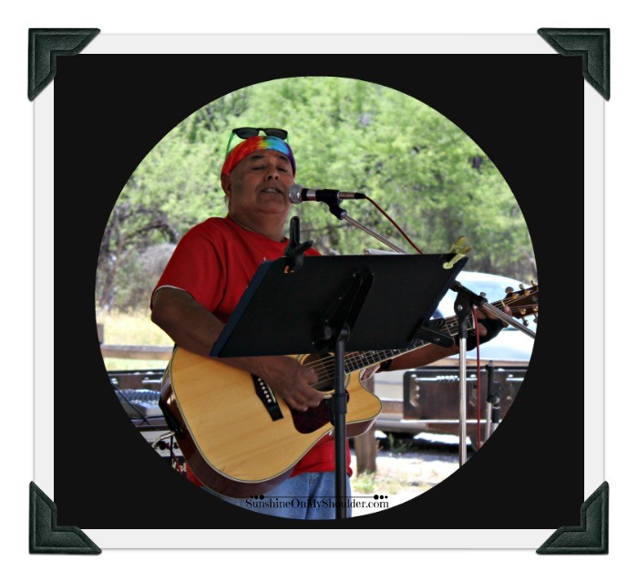 Musician at Solar Potluck Tucson 2015
