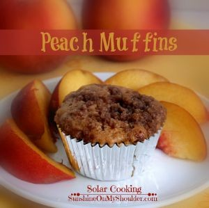 Peach Muffin recipe for solar oven