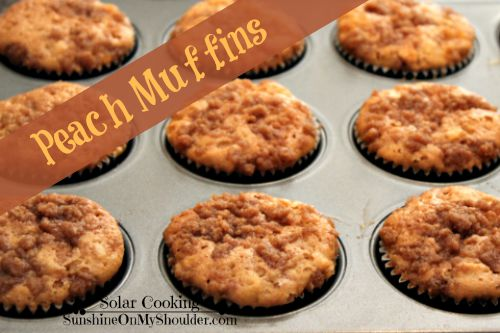 Peach muffin recipe for solar oven but still in the muffin pan