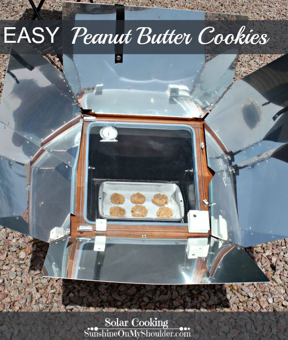 Easy Peanut Butter Cookies is a solar cooking recipe for a solar oven.
