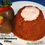 Solar Strawberry Cake with Strawberry Filling