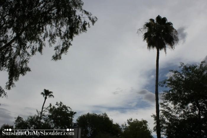 Cloudy sky over Mesa AZ