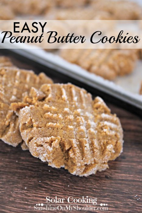 Easy Peanut Butter Cookies is a solar cooking recipe.