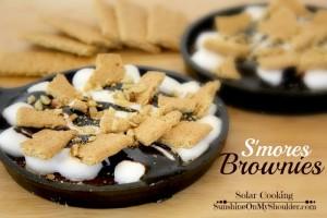 Smores Brownie Solar oven Dessert Recipes