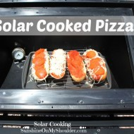 Solar cooked Pizza in a solar oven