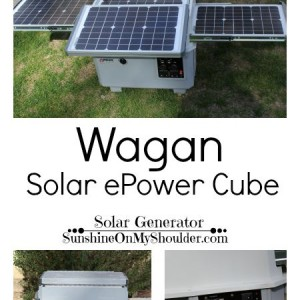 Wagan portable solar powered generator