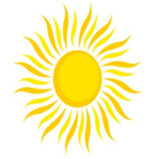 Sunshine On My Shoulder Sun logo
