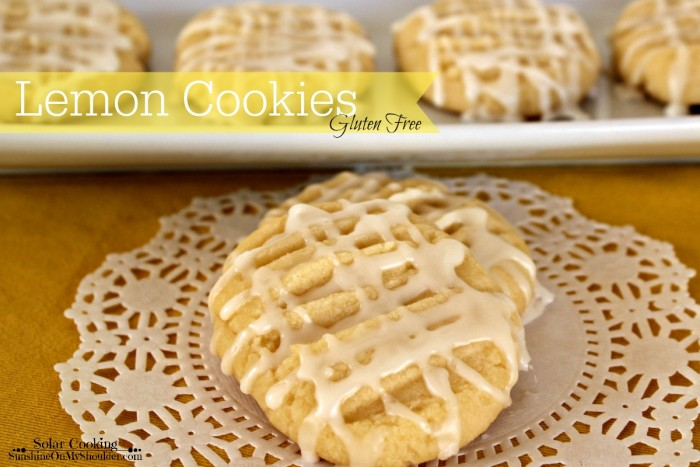 Gluten Free Lemon Cookies baked in a solar oven