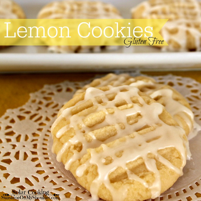 Gluten Free Lemon Cookies baked in a solar oven