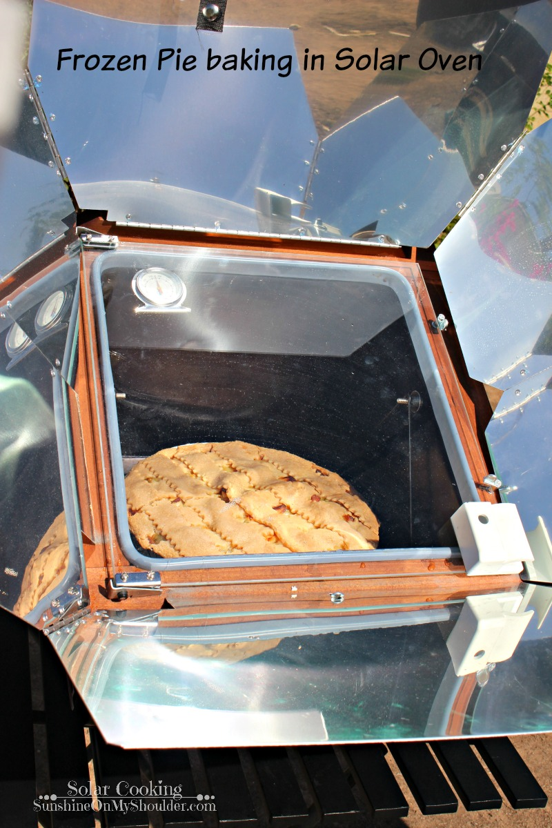 Frozen Pie baked in a solar oven