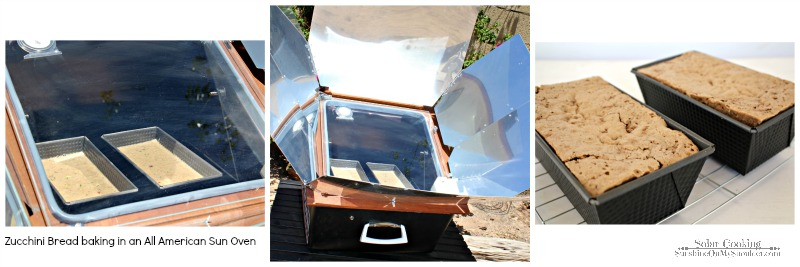 Zucchini Bread solar cooking recipe