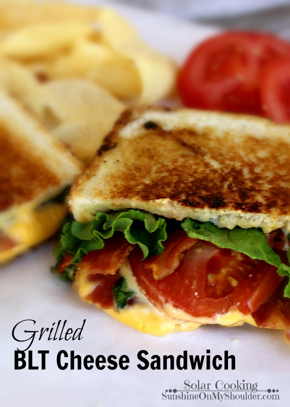 BLT Grilled Cheese Sandwich solar cooking recipe