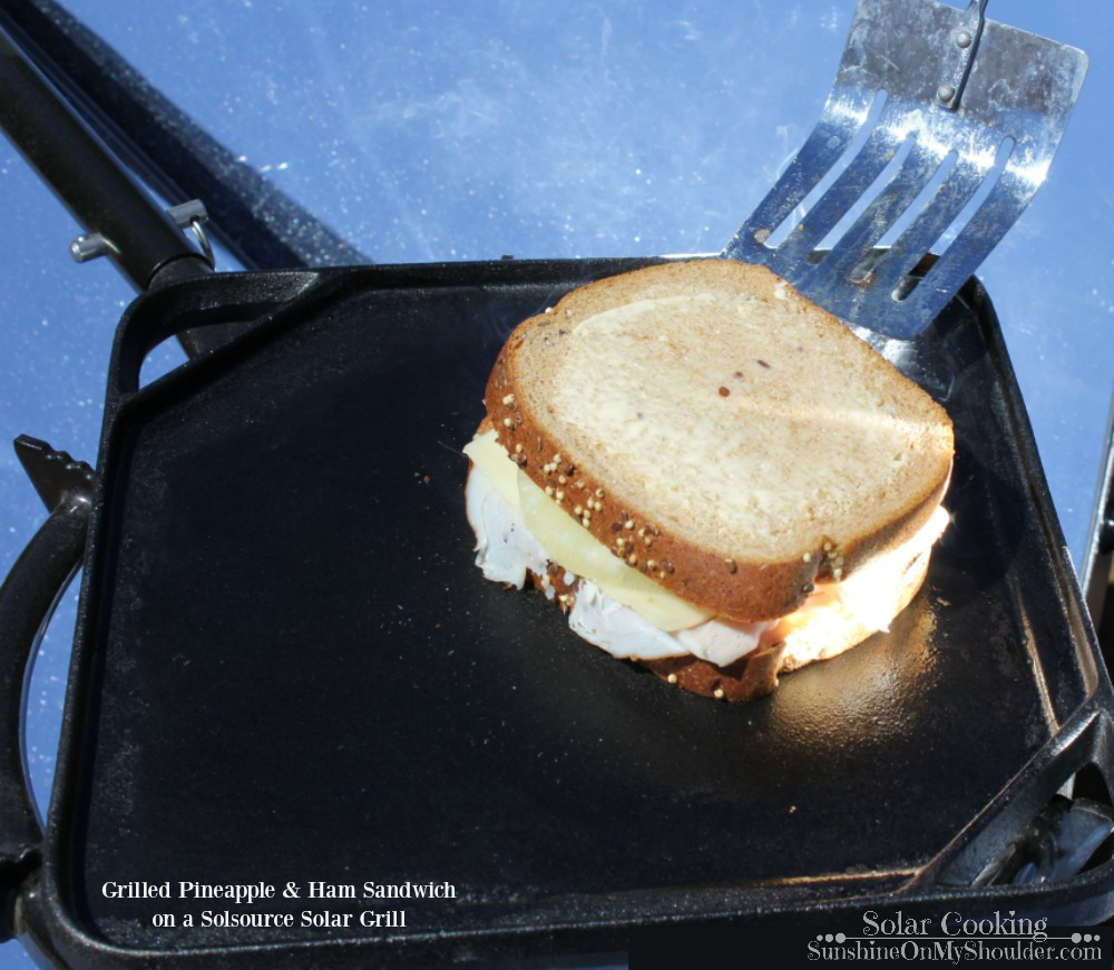 How to Grill a Pineapple Ham Sandwich on a Solar Grill.