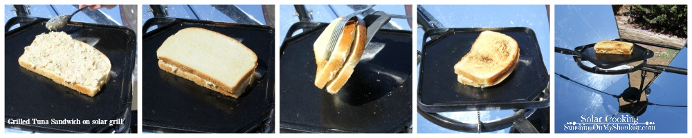 Grilled Tuna Sandwich solar cooking