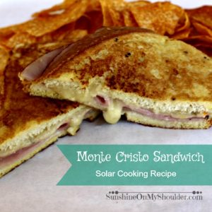 Monte Cristo Sandwich Cooked on a Solar Grill