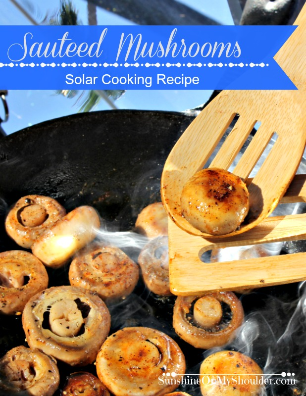 Sauteed Mushrooms being