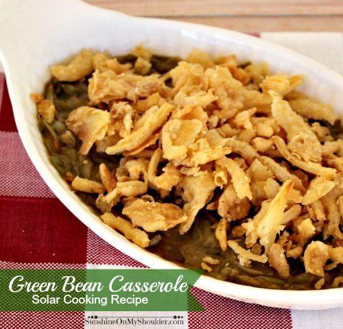 Classic Green Bean Casserole in a Solar Oven