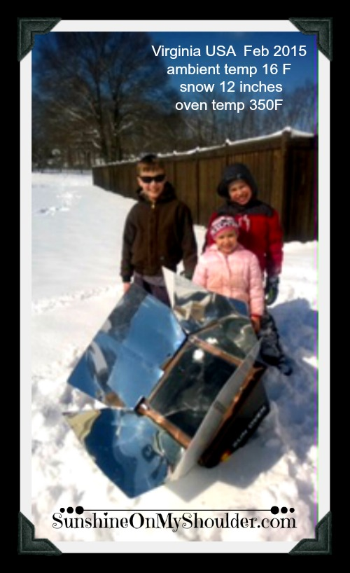 Solar Cooking in the Snow